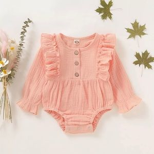 Long sleeved romper baby girl 18-24 mo.